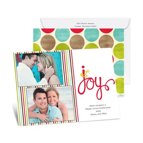 Joyful Bling Photo Holiday Card