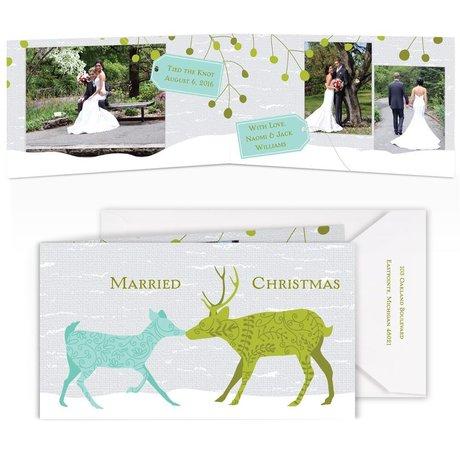 Designer Deer Photo Holiday Card