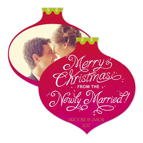 Newly Married Christmas Photo Holiday Card