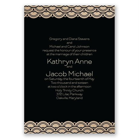 Art Deco Presentation Invitation