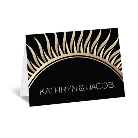 Art Deco Presentation Note Card and Envelope