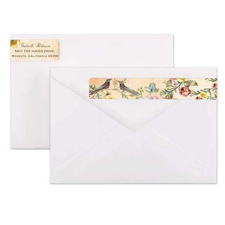 Vintage Birds Address Label
