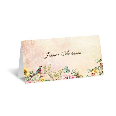 Vintage Birds - Place Card