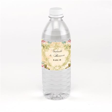 Vintage Birds Water Bottle Label