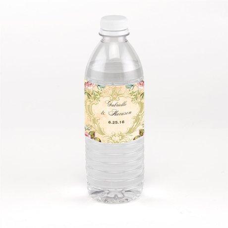 Vintage Birds Water Bottle Label