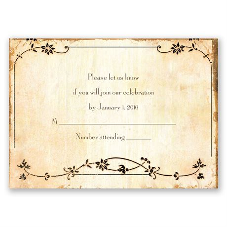 Antique Book Response Card