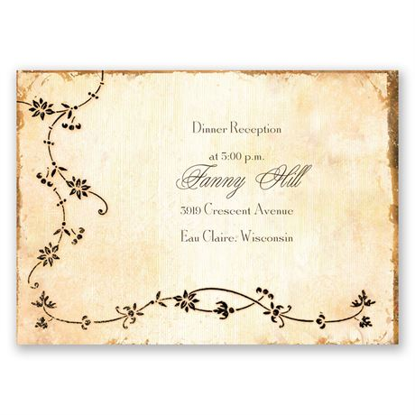 Antique Book Reception Card