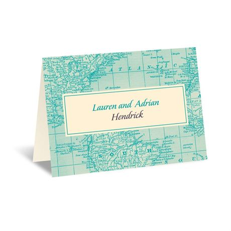 Classic Map Note Card and Envelope