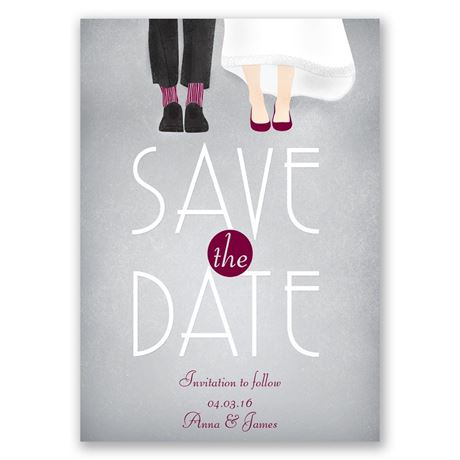 Dancing Shoes Mr. and Mrs. Save the Date Card