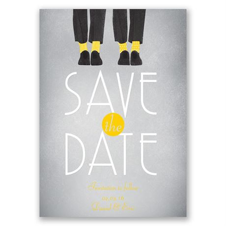 Dancing Shoes Mr and Mr Save the Date Card