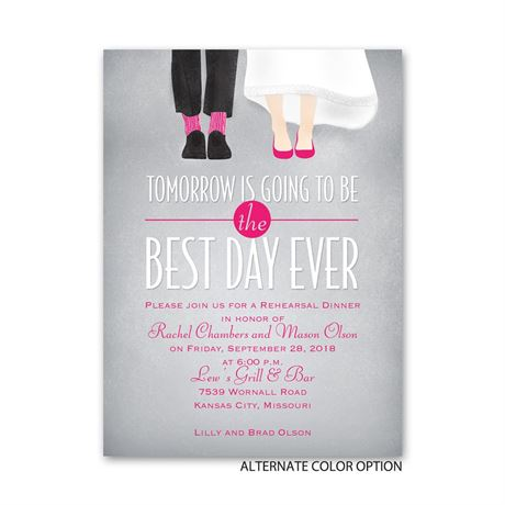 Dancing Shoes - Petite Rehearsal Dinner Invitation