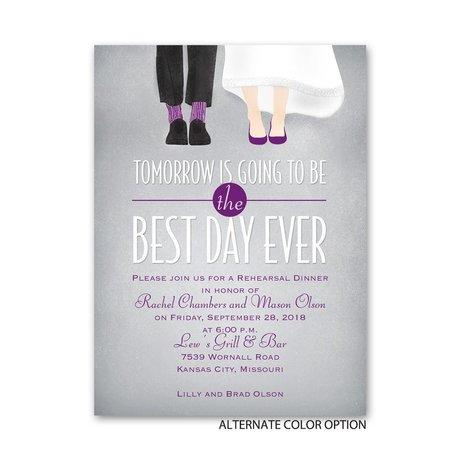 Dancing Shoes - Petite Rehearsal Dinner Invitation