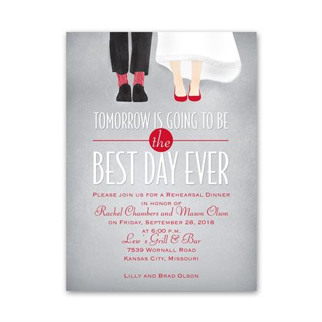 Dancing Shoes Petite Rehearsal Dinner Invitation