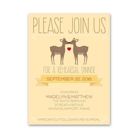 Dear to Me - Petite Rehearsal Dinner Invitation