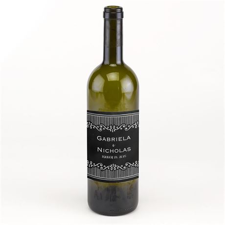 Chalkboard Sketch Wine Bottle Label