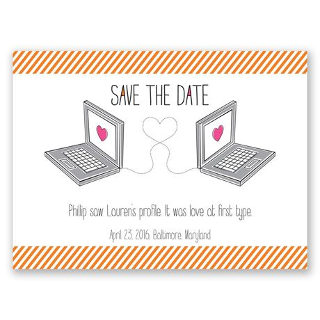 Online Romance Save the Date Card