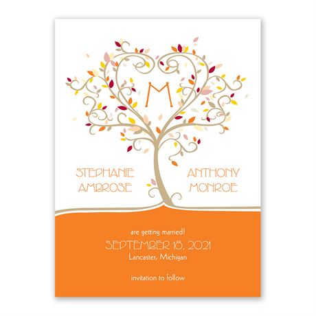 Autumn Flourish Save the Date Card