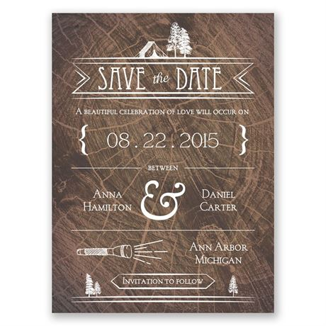 Making Camp Save the Date Card