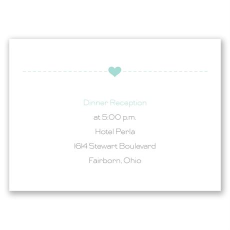 State Your Love Reception Card