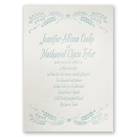 Natural Love - Ecru - Featherpress Invitation
