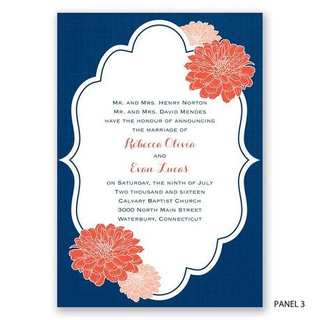 Peeking Flowers - Invitation