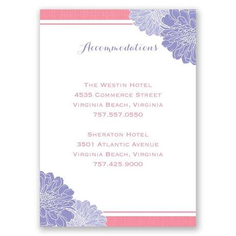 Peeking Flowers - Accommodations Card