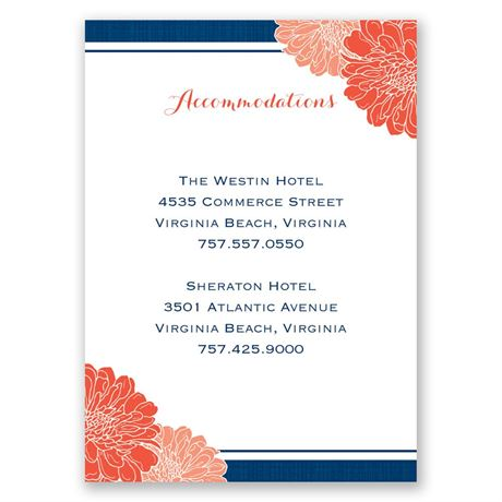 Peeking Flowers Accommodations Card