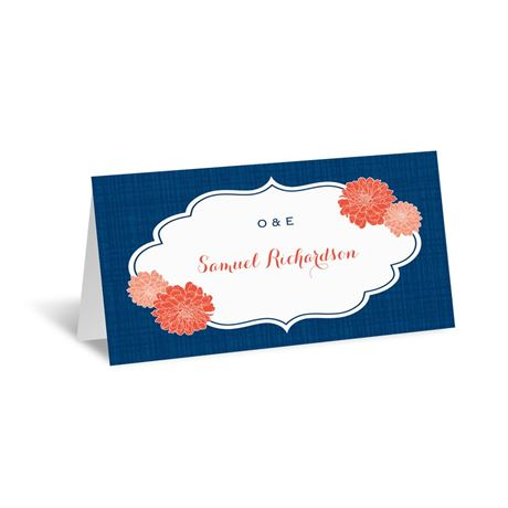 Peeking Flowers Place Card