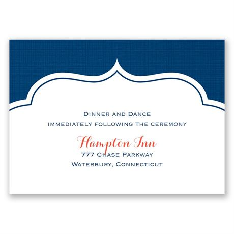 Peeking Flowers Reception Card