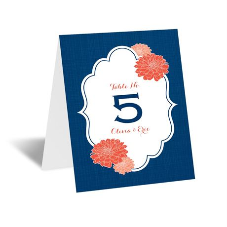 Peeking Flowers Table Number Card