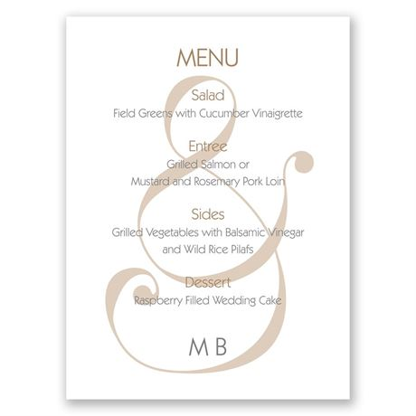 Happy Together - Menu Card