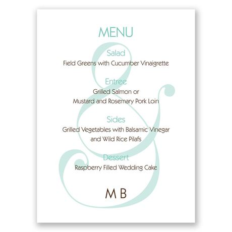 Happy Together Menu Card