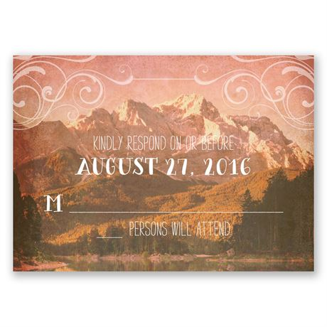 Rustic Reflections Response Card and Envelope