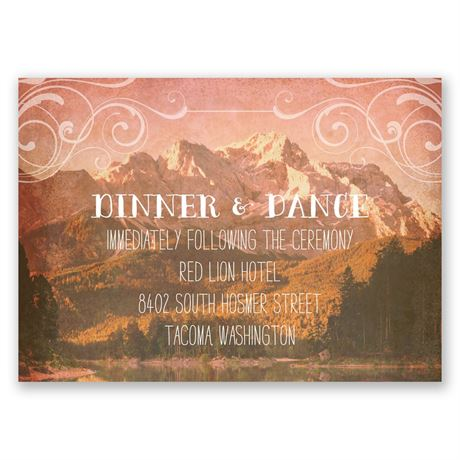 Rustic Reflections Reception Card