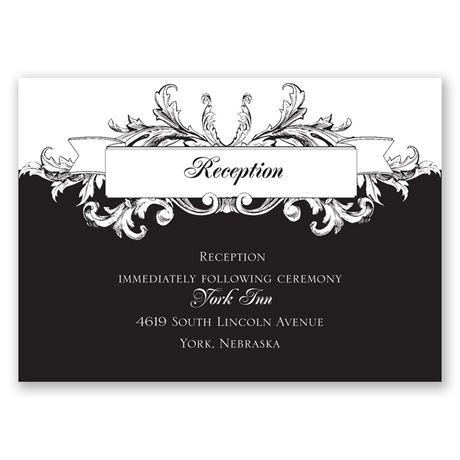 Victorian Flourish Reception Card