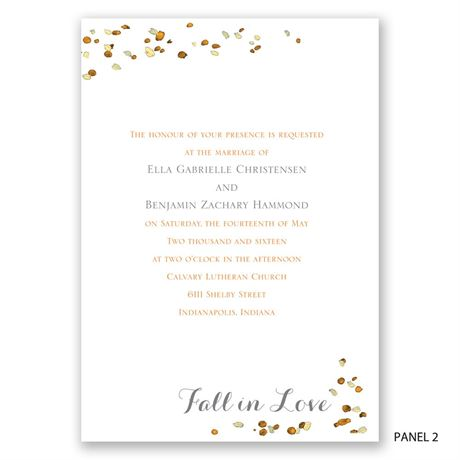 Fall in Love - Invitation