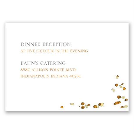 Fall in Love Reception Card