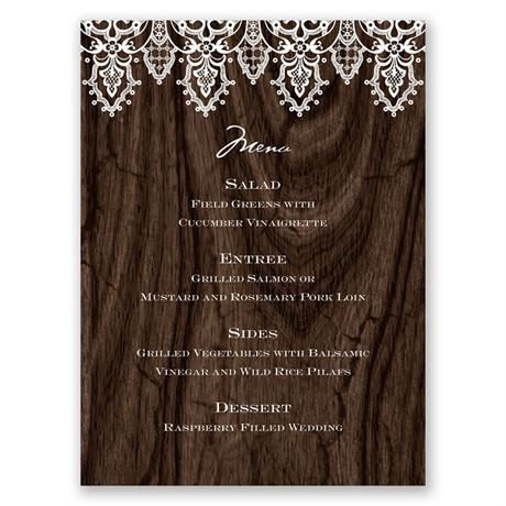 Romantic Finish Menu Card