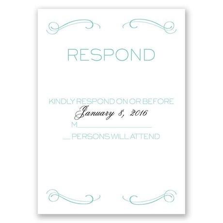 Elegantly Etched Response Card