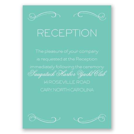 Elegantly Etched Reception Card