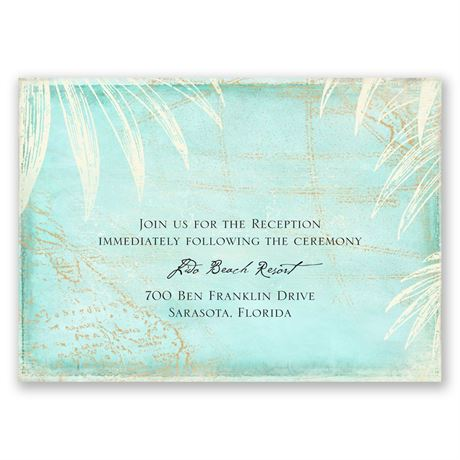 Island Cartography Reception Card