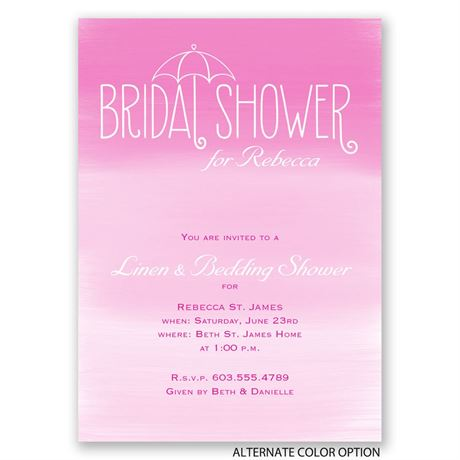 Blue Skies - Bridal Shower Invitation