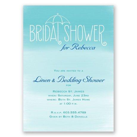 Blue Skies Bridal Shower Invitation