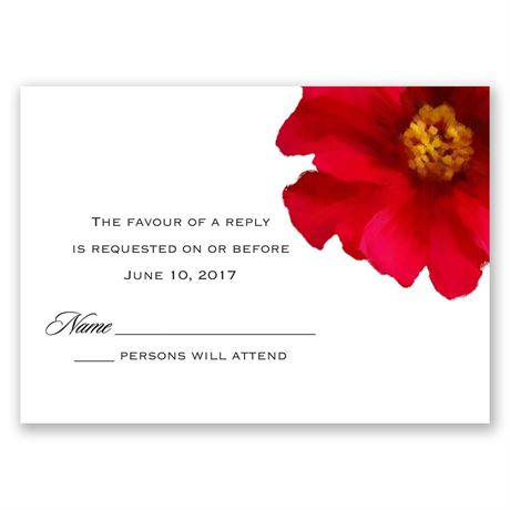 Brilliant Floral - Cherry - Response Card