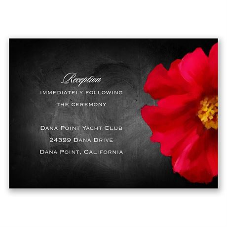 Brilliant Floral - Cherry - Reception Card