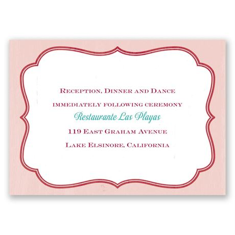 Amor - Reception Card