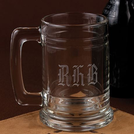 Monogrammed Glass Mug