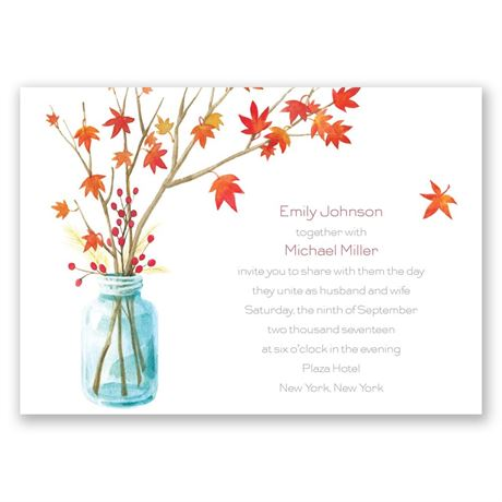 Autumn Arrangement - Invitation