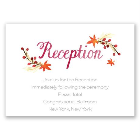 Autumn Arrangement Reception Card