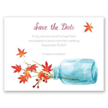 Autumn Arrangement Save the Date Card